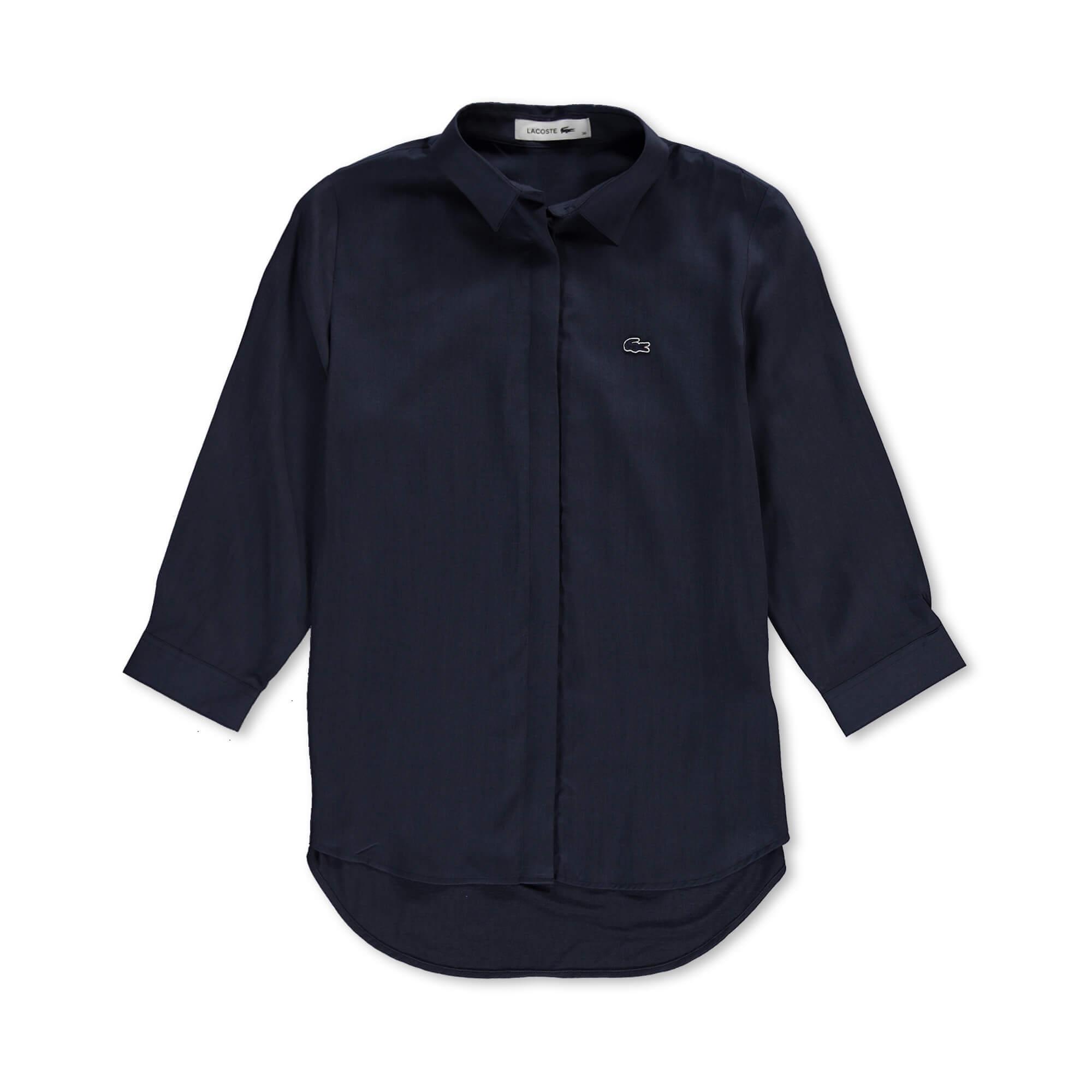 Lacoste Kadın Lacivert Gömlek