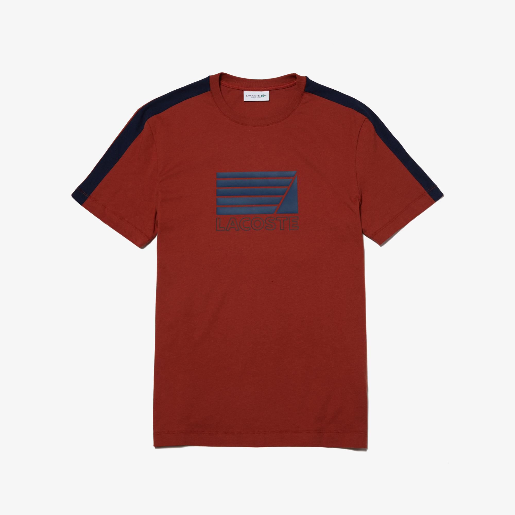 Lacoste Erkek Regular Fit Lacoste Baskılı Bordo T-Shirt