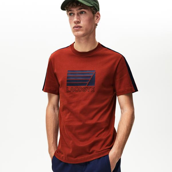 Lacoste Erkek Regular Fit Lacoste Baskılı Bordo T-Shirt