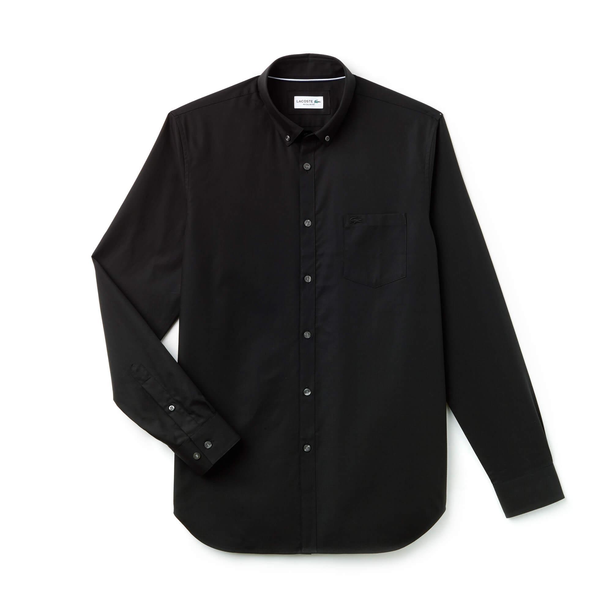 Lacoste Erkek Klasik Fit Siyah Gömlek