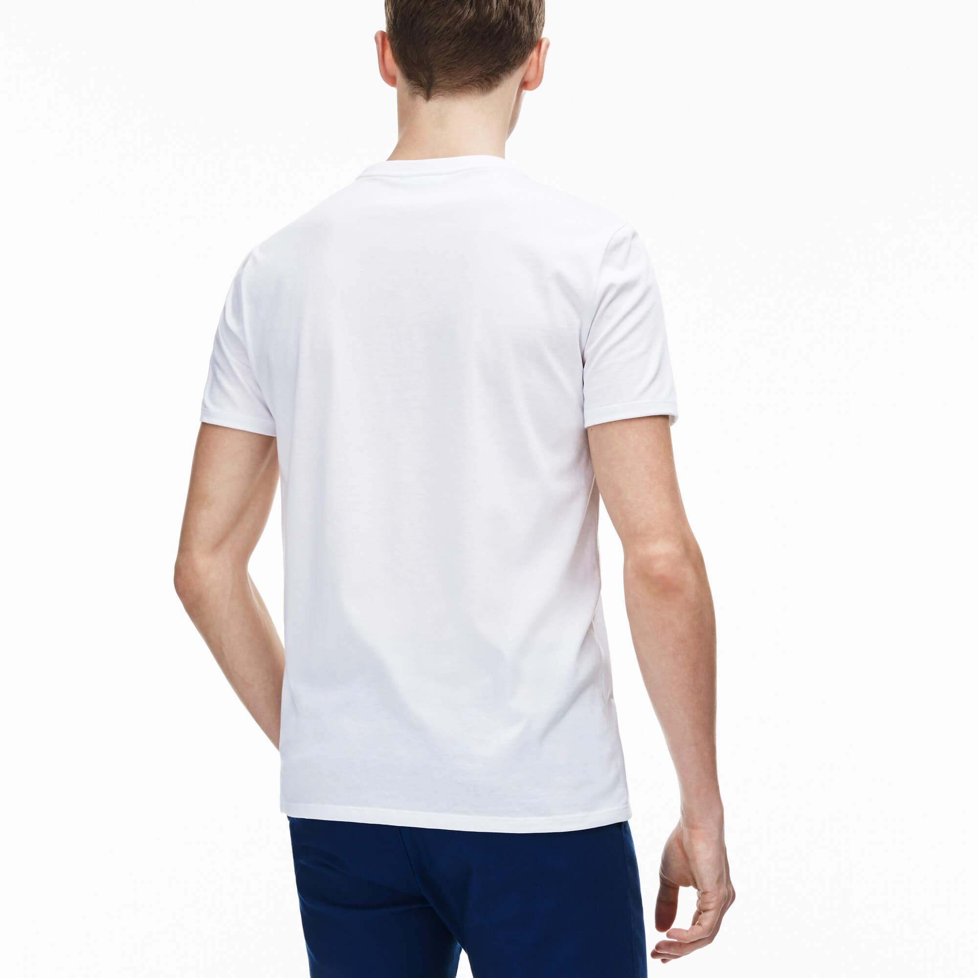 Lacoste Erkek Beyaz T-Shirt