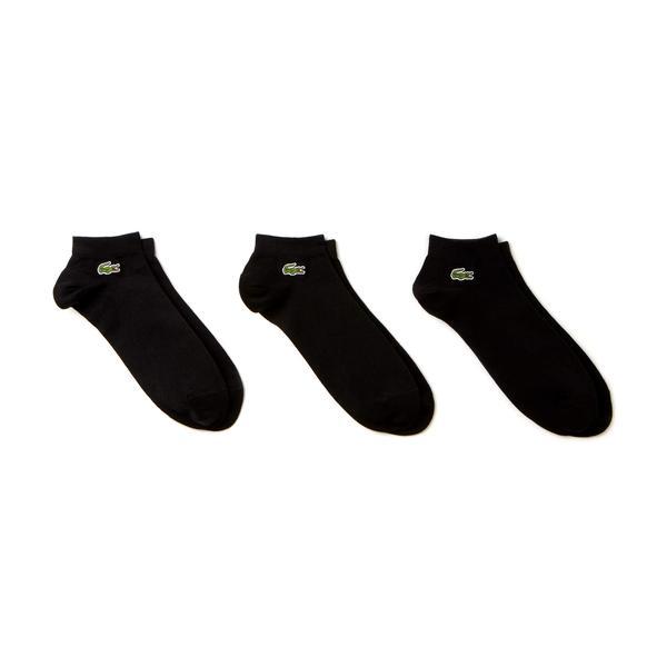 Lacoste Unisex 3'lü Siyah Çorap