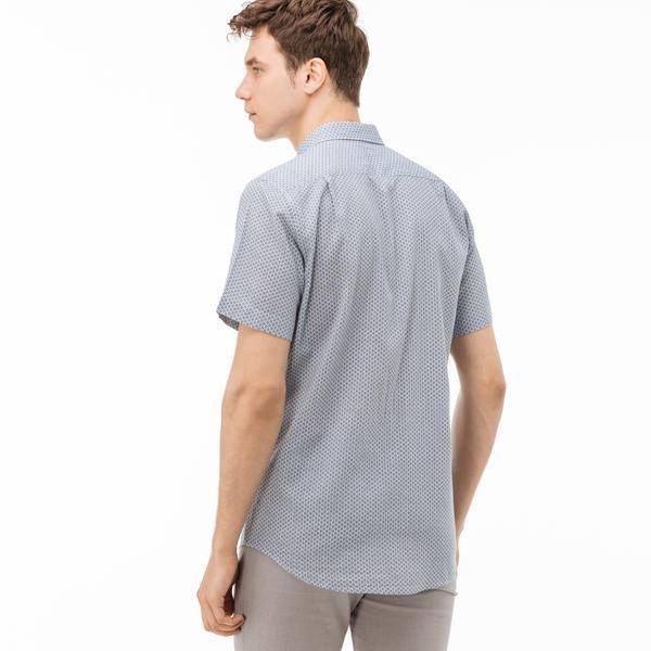 Lacoste Erkek Regular Fit Kısa Kollu Pamuklu Mavi Gömlek