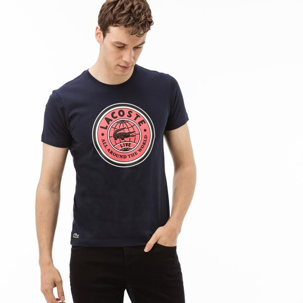 Lacoste L!ve Erkek Lacivert T-Shirt
