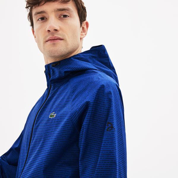 Lacoste Sport Novak Djokovic Erkek Kapüşonlu Mavi Mont