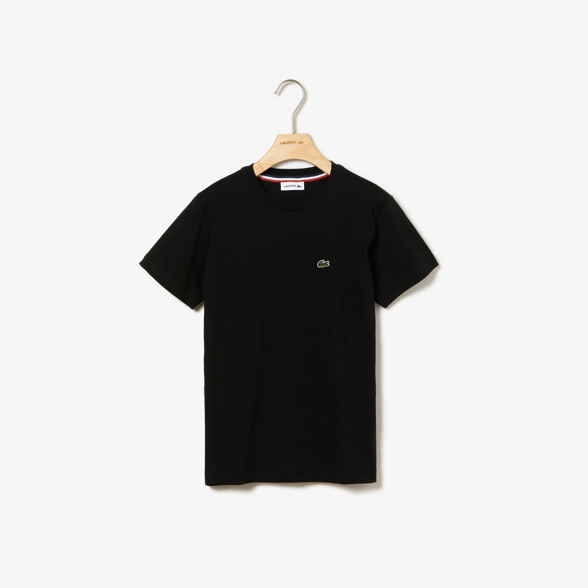 Lacoste Çocuk Bisiklet Yaka Siyah T-Shirt
