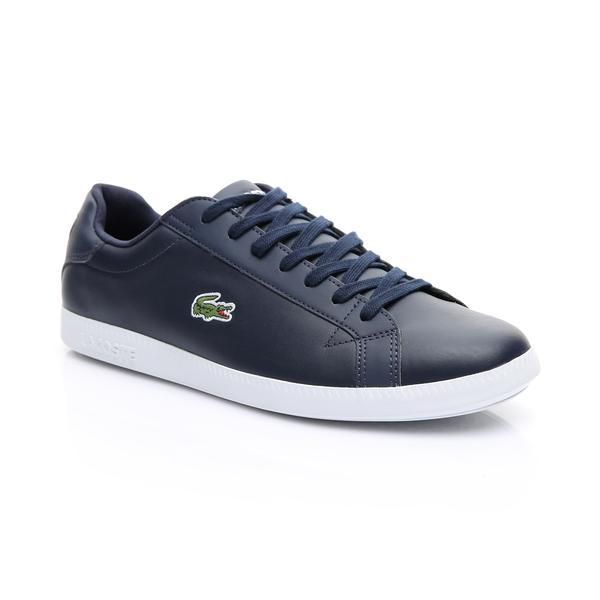 Lacoste Erkek Lacivert - Beyaz Graduate BL 1 Sneaker
