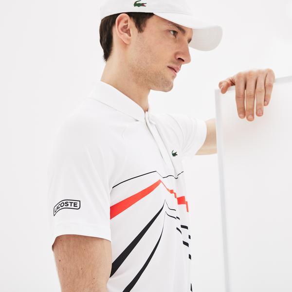 Lacoste Sport Novak Djokovic Erkek Beyaz Polo