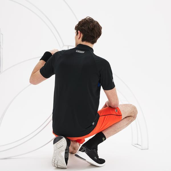 Lacoste Sport Novak Djokovic Erkek Siyah Polo