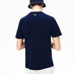 Lacoste Erkek Regular Fit Lacoste Baskılı Lacivert T-Shirt