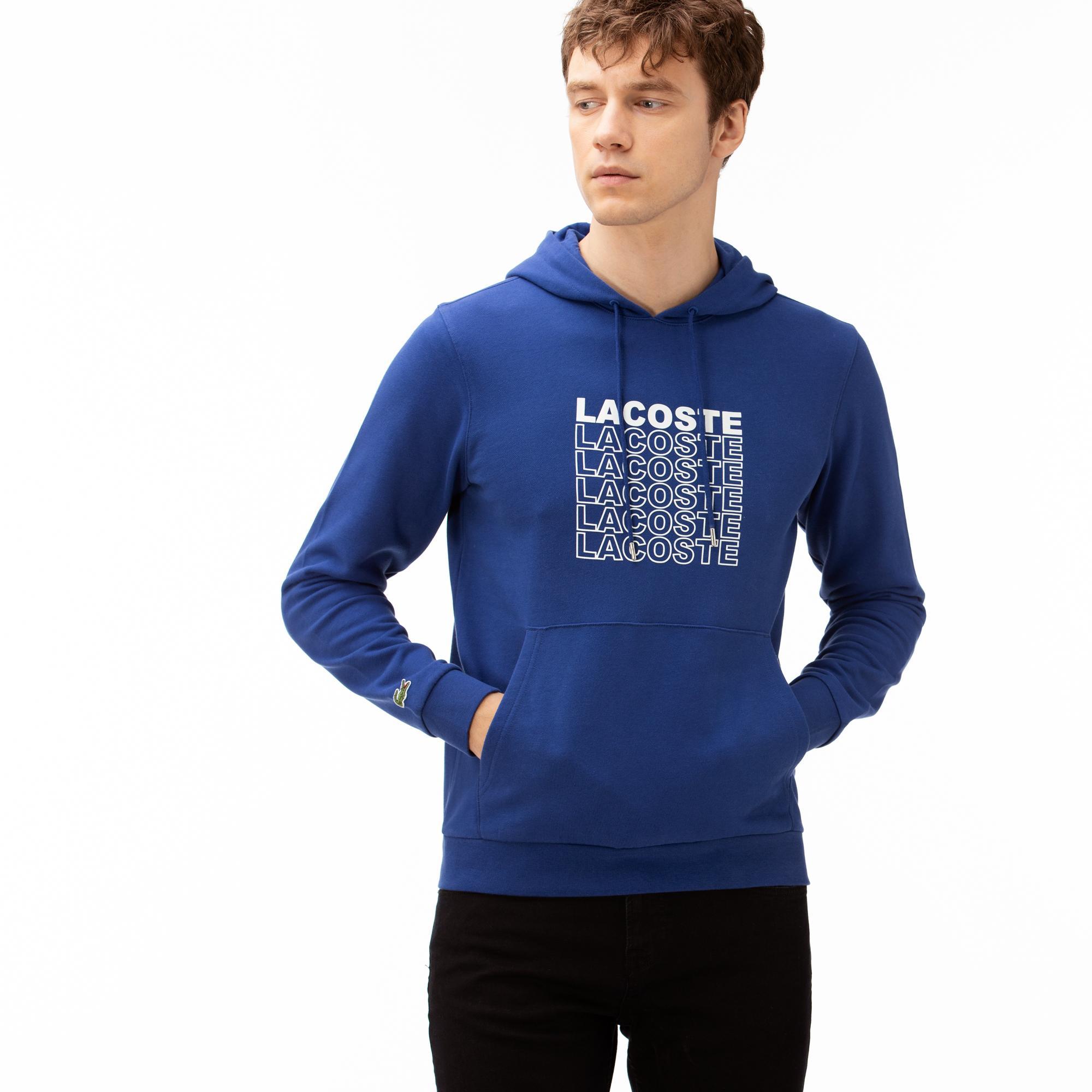 Lacoste Erkek Kapüşonlu Lacivert Sweatshirt