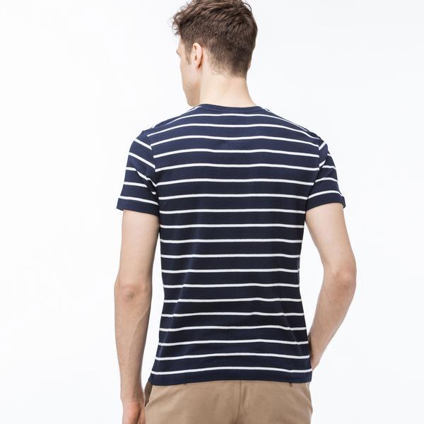 Lacoste Erkek Slim Fit Desenli Lacivert T-Shirt