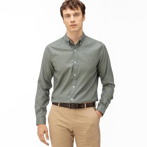 Lacoste Erkek Regular Fit Haki Gömlek