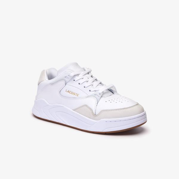 Lacoste Court Slam 319 1 Sma Erkek Beyaz - Bej Sneaker