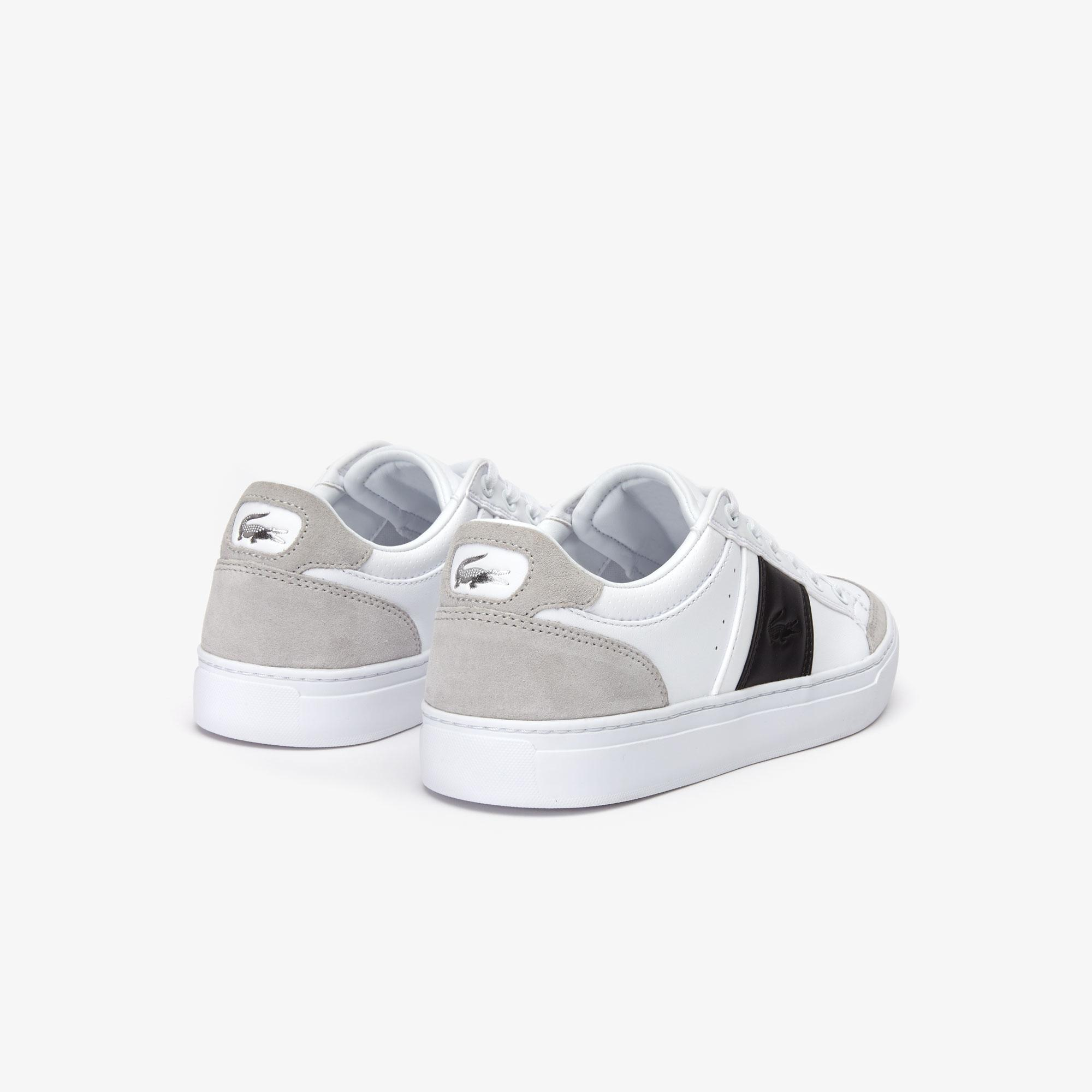 Lacoste Courtline 319 1 US CMA Erkek Beyaz - Siyah Casual Ayakkabı