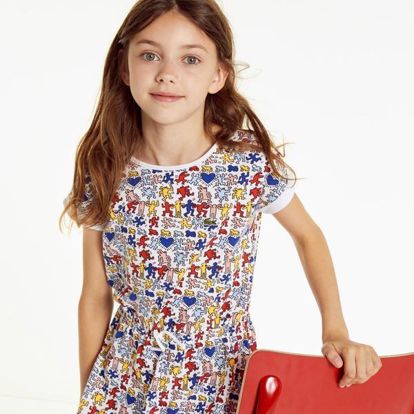 Lacoste X Keith Haring Çocuk Renkli Elbise