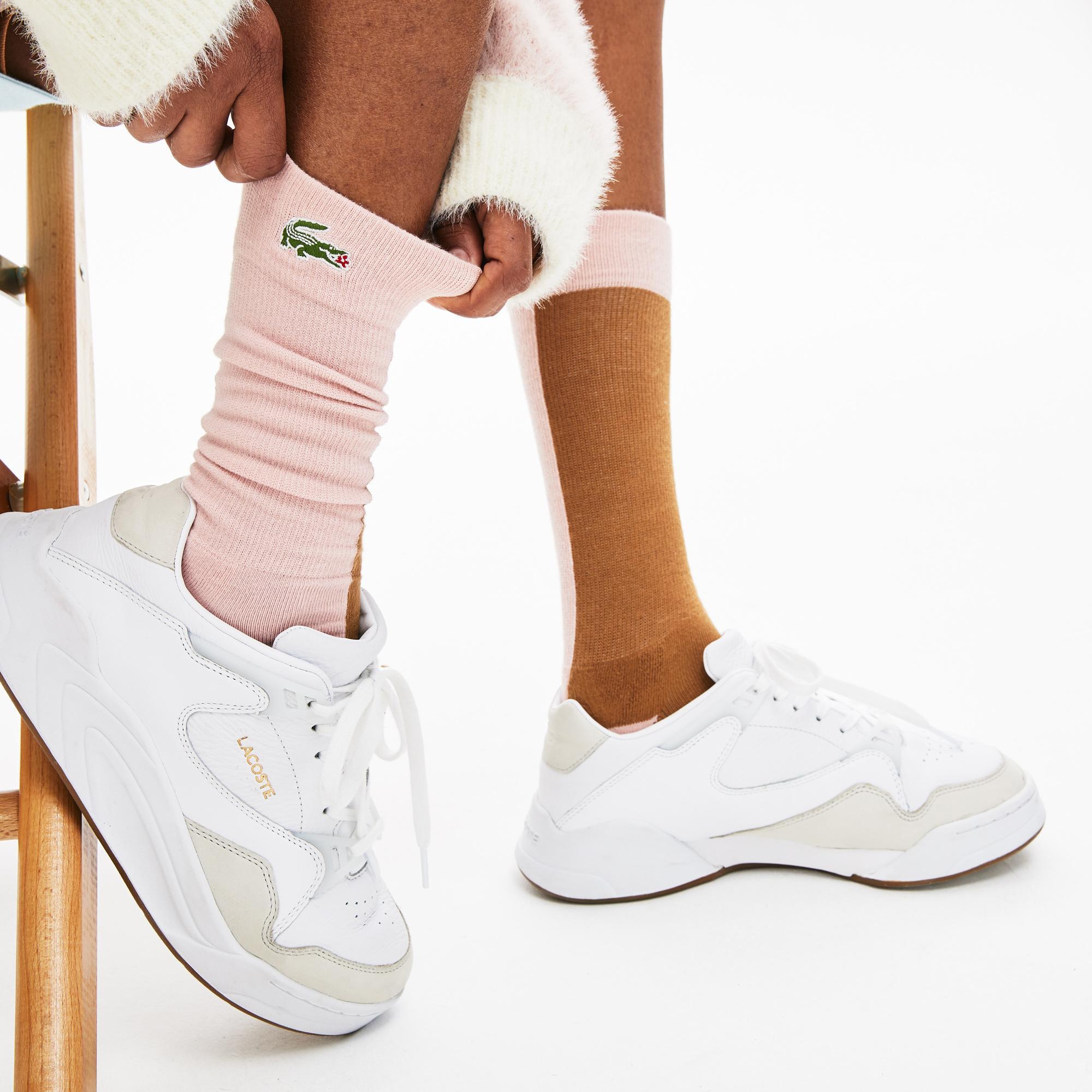 Lacoste X GOLF le FLEUR Unisex Pembe - Kahverengi Çorap