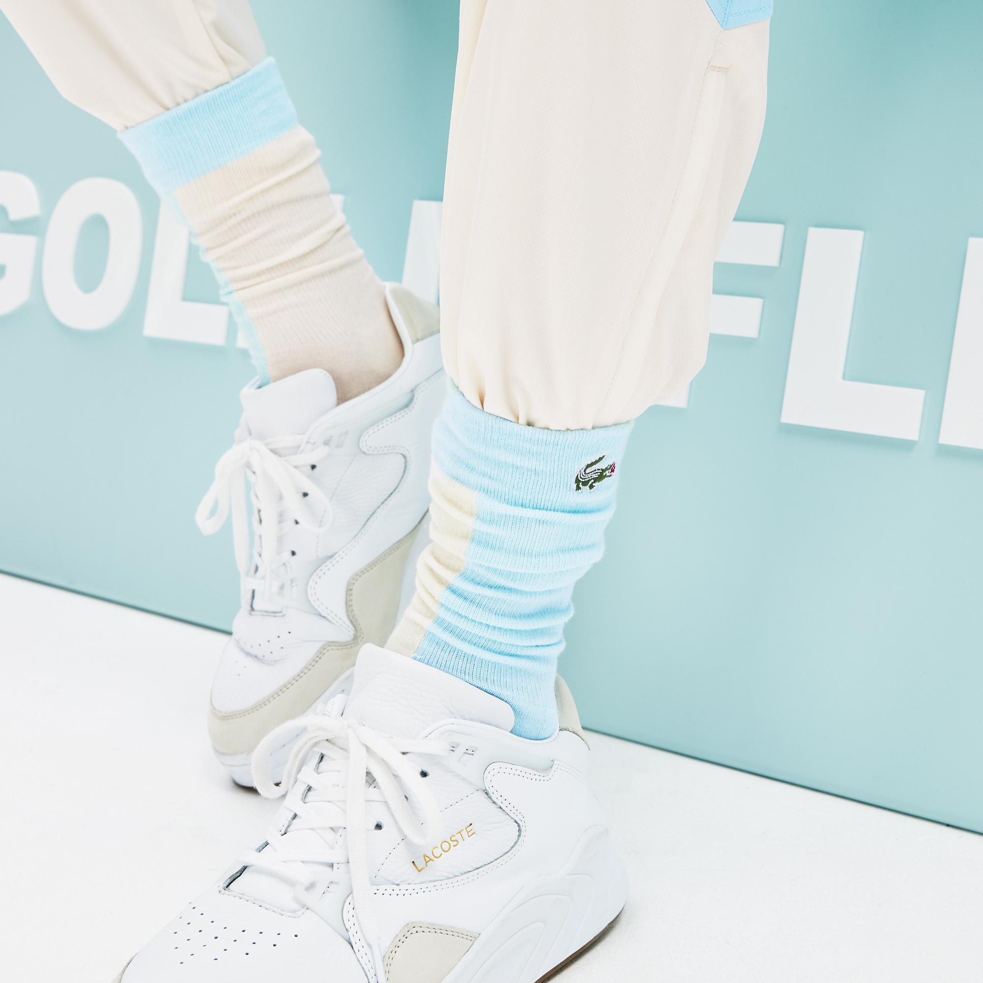Lacoste X GOLF le FLEUR Unisex Mavi - Bej Çorap