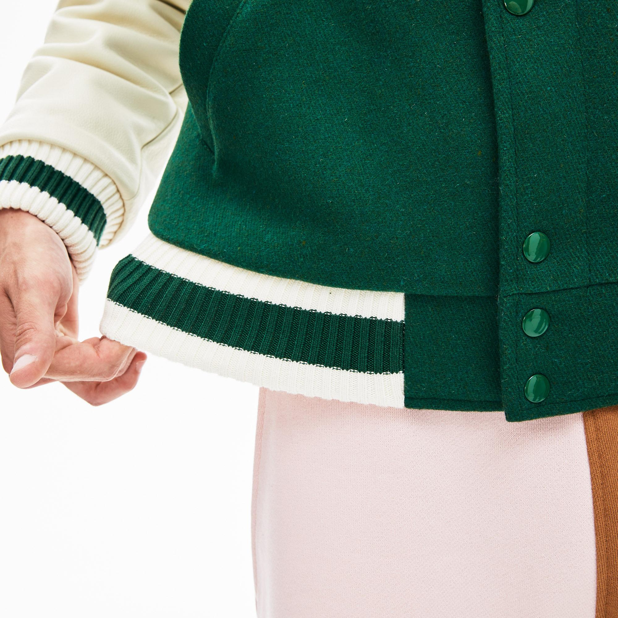 Lacoste X GOLF le FLEUR Unisex Yeşil Blok Desenli Ceket