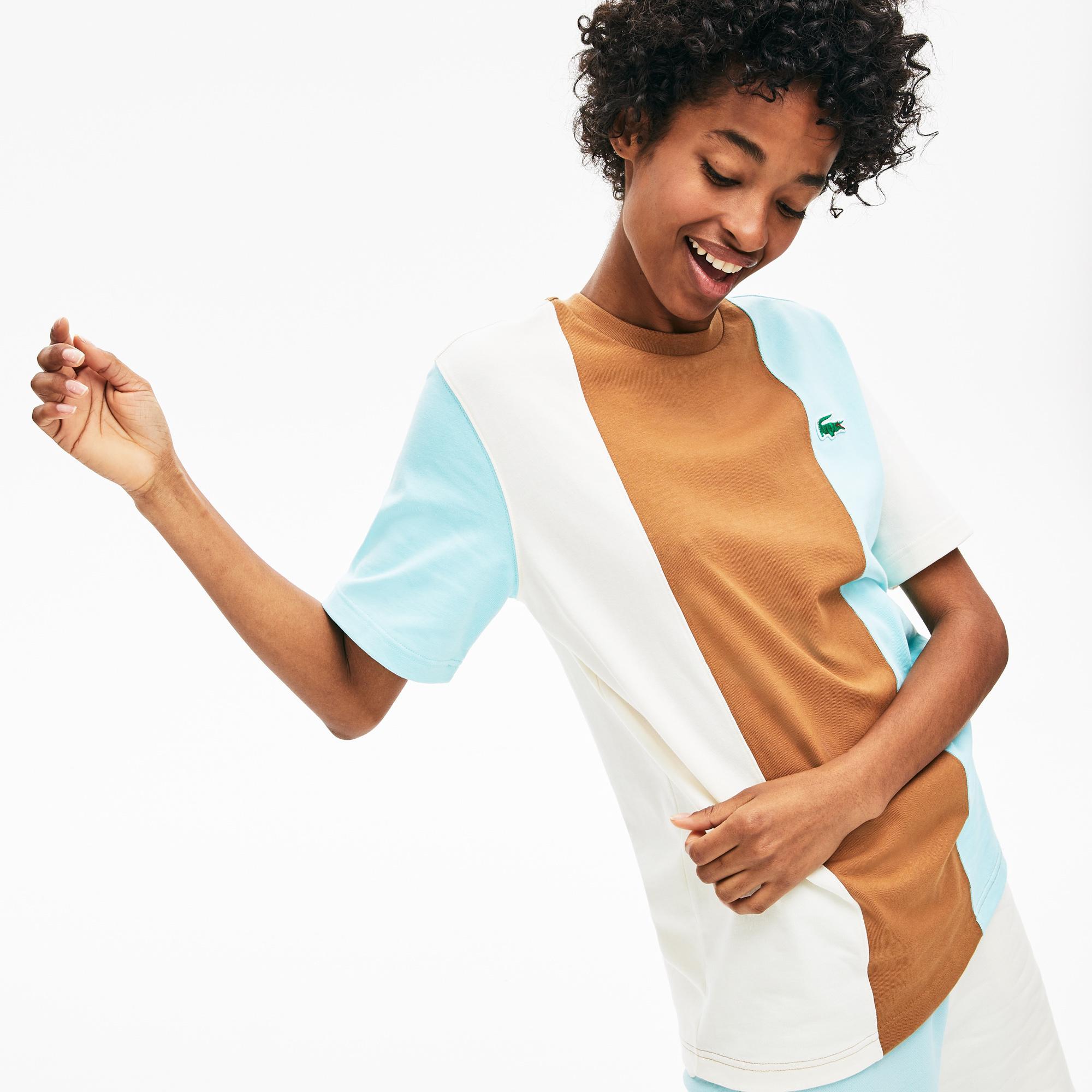 Lacoste X GOLF le FLEUR Unisex Regular Fit Renkli Baskılı Desenli T-Shirt