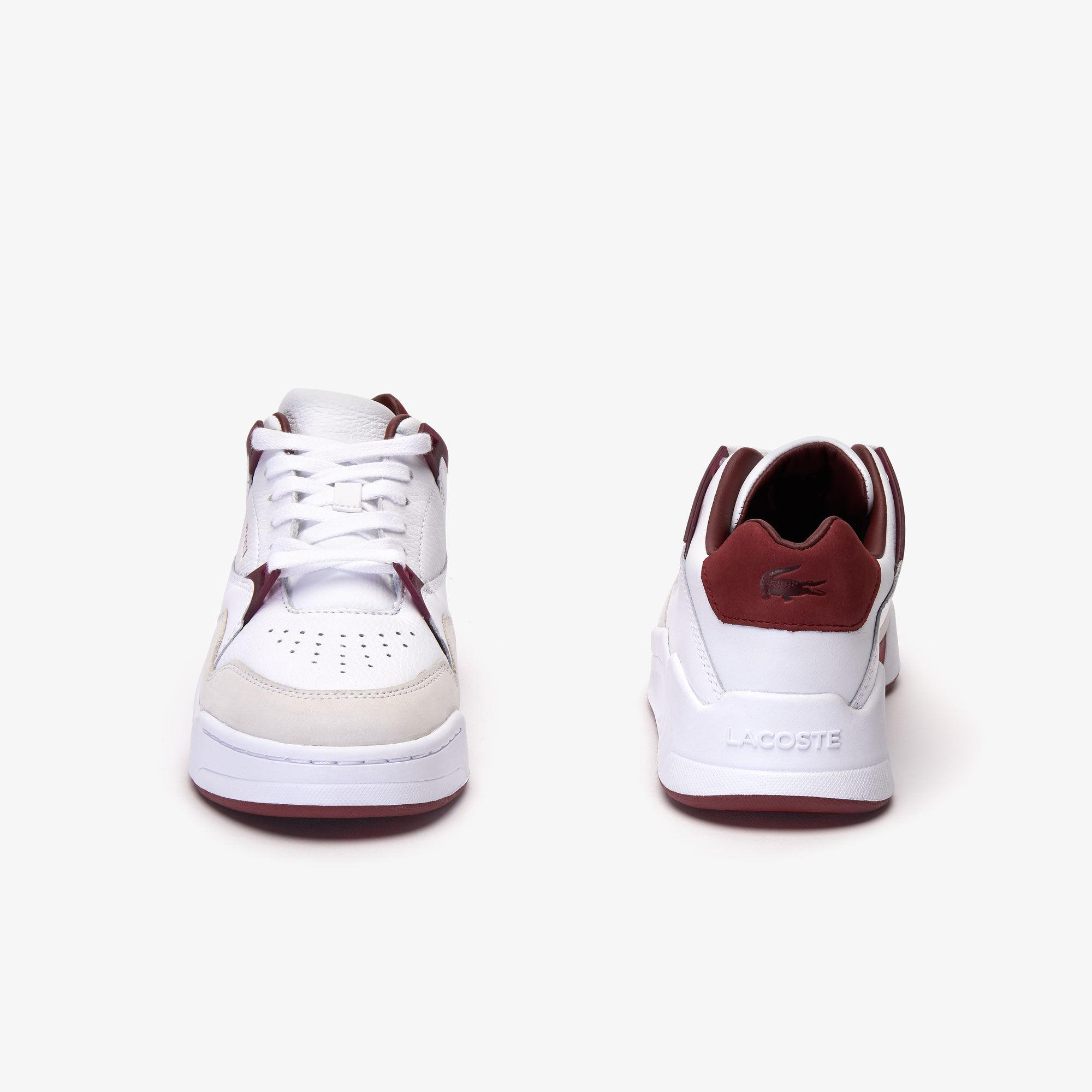Lacoste Court Slam 319 3 Sfa Kadın Beyaz - Koyu Kırmızı Sneaker