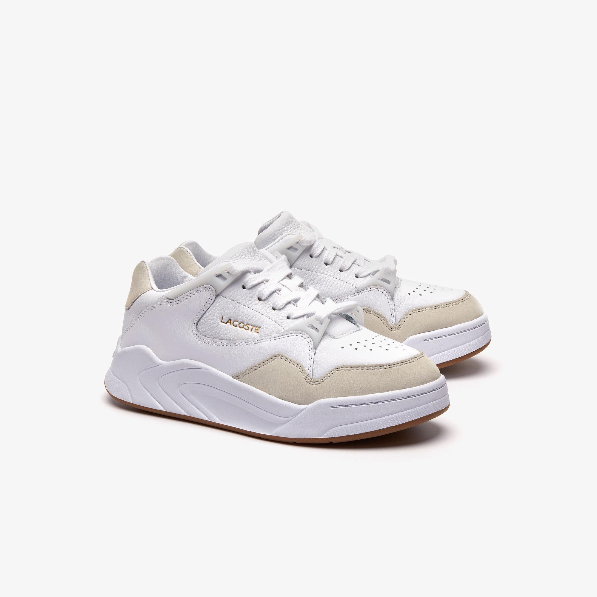 Lacoste Court Slam 319 1 Sfa Kadın Beyaz - Bej Sneaker