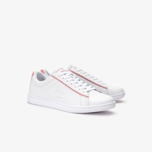 Lacoste Carnaby Evo 319 9 Sfa Kadın Beyaz - Pembe Sneaker