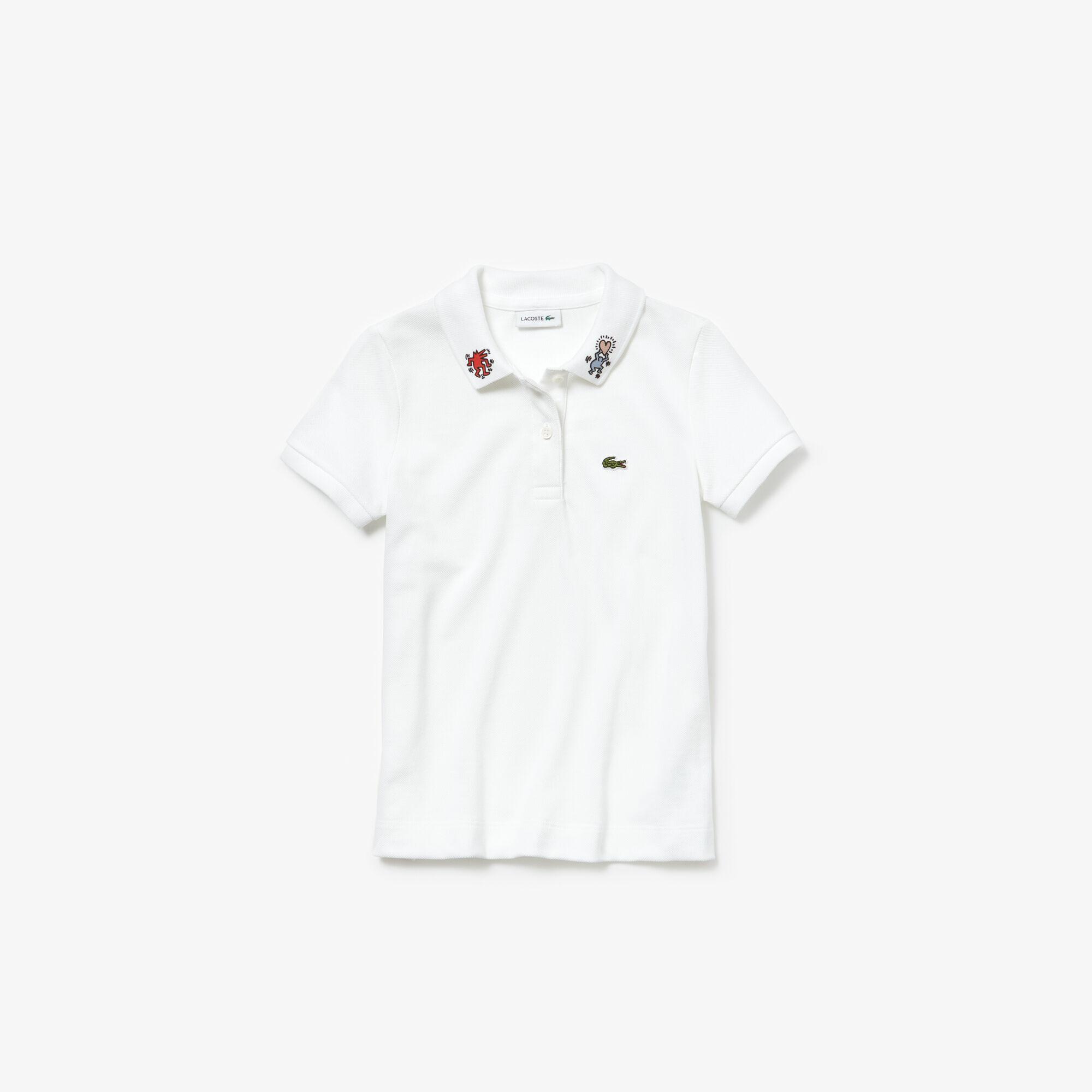 Lacoste X Keith Haring Çocuk Beyaz Polo