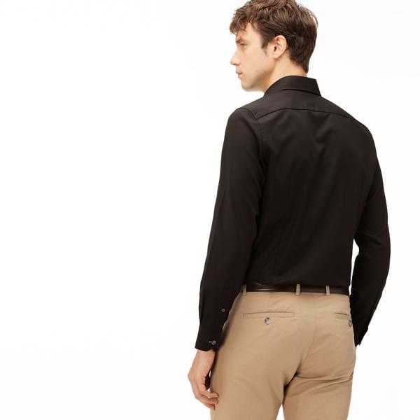 Lacoste Erkek Siyah Gömlek