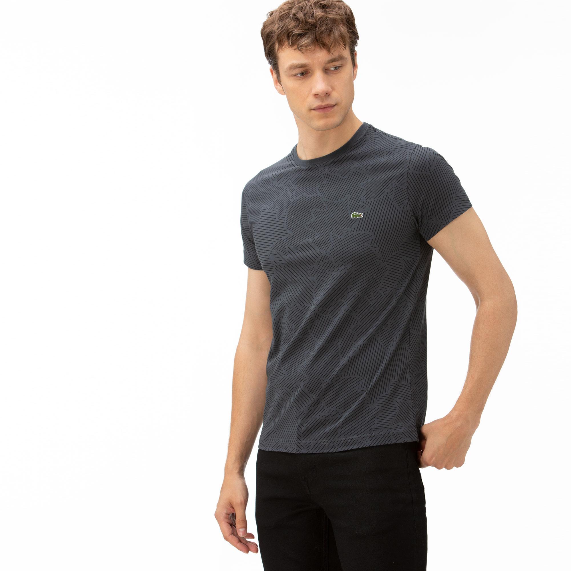 Lacoste Erkek Gri Desenli T-Shirt