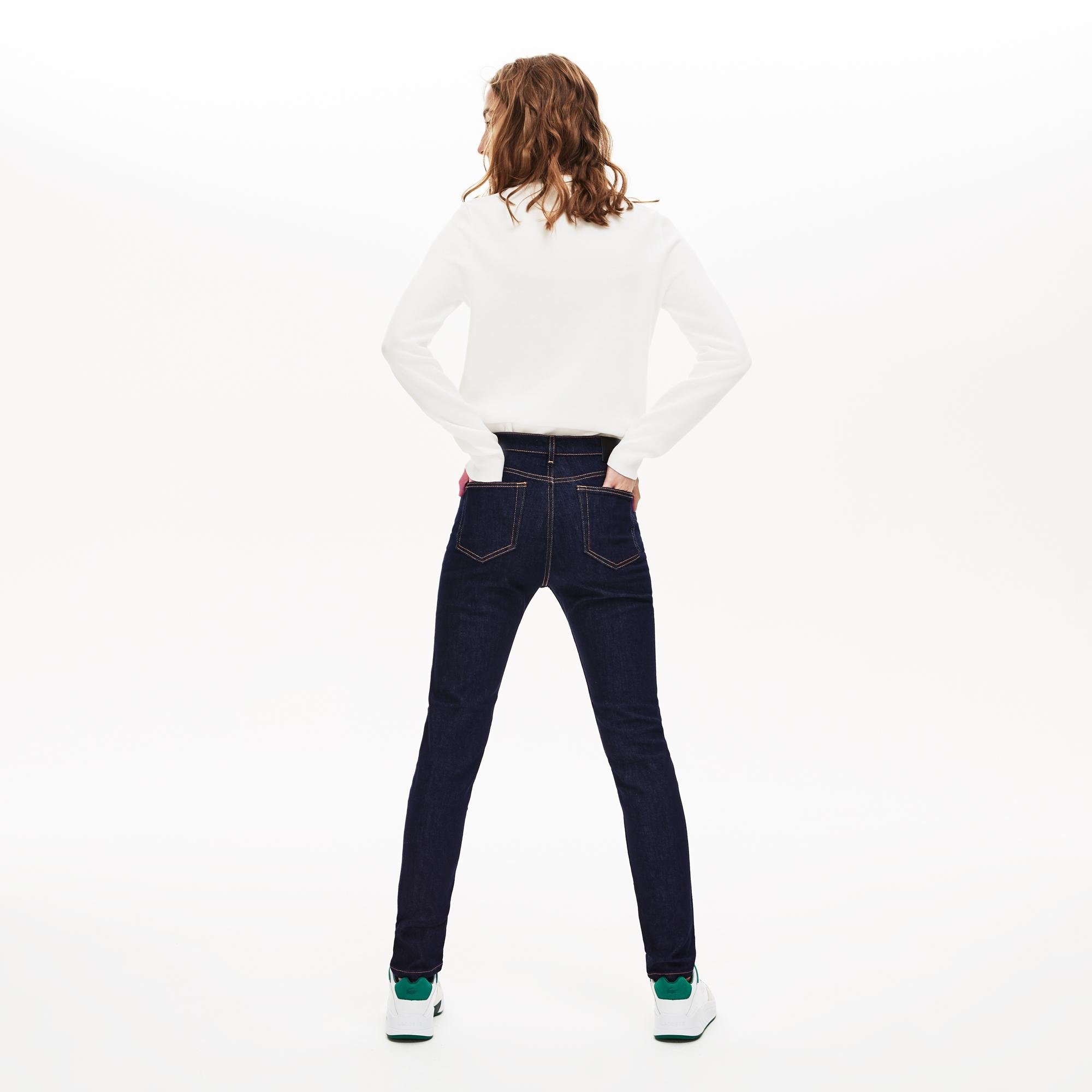 Lacoste Kadın Lacivert Denim Pantolon