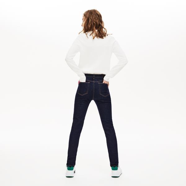 Lacoste Kadın Mavi Denim Pantolon