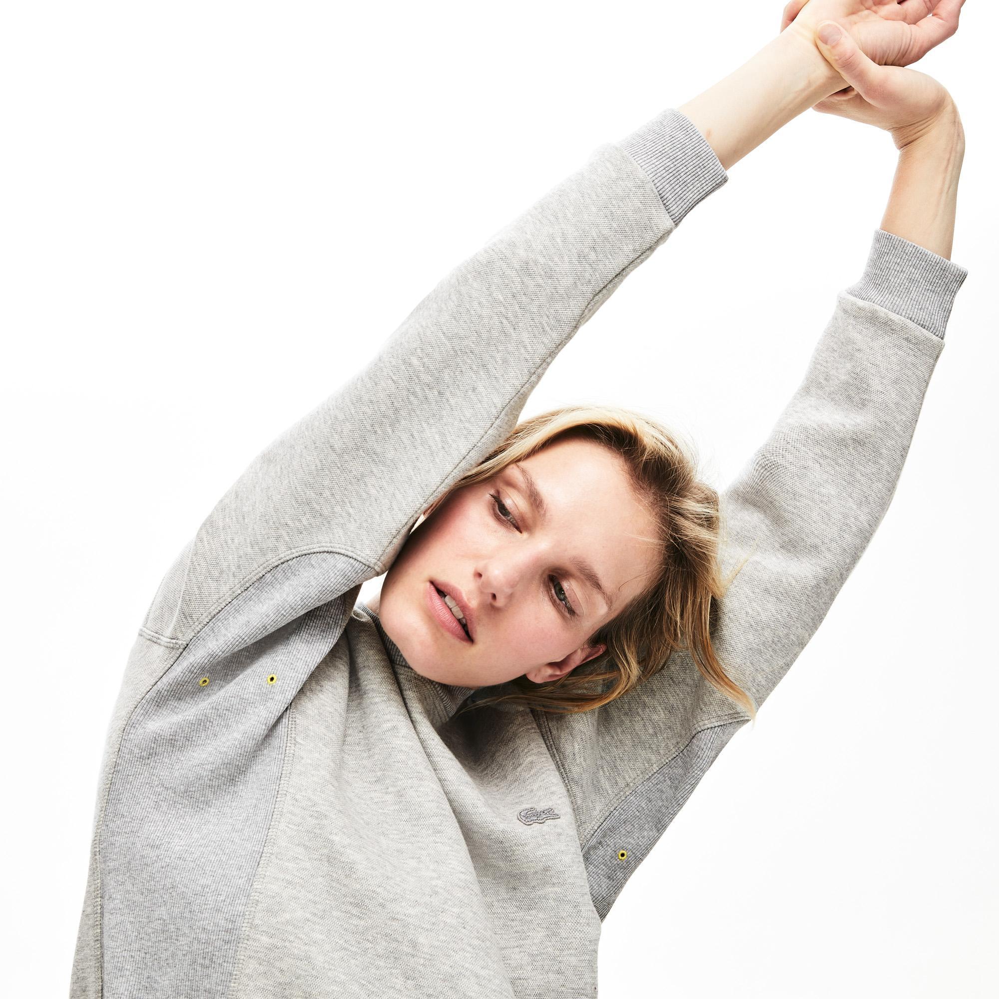 Lacoste Kadın Bisiklet Yaka Gri Sweatshirt