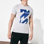 Lacoste Sport Erkek Gri Baskılı T-Shirt