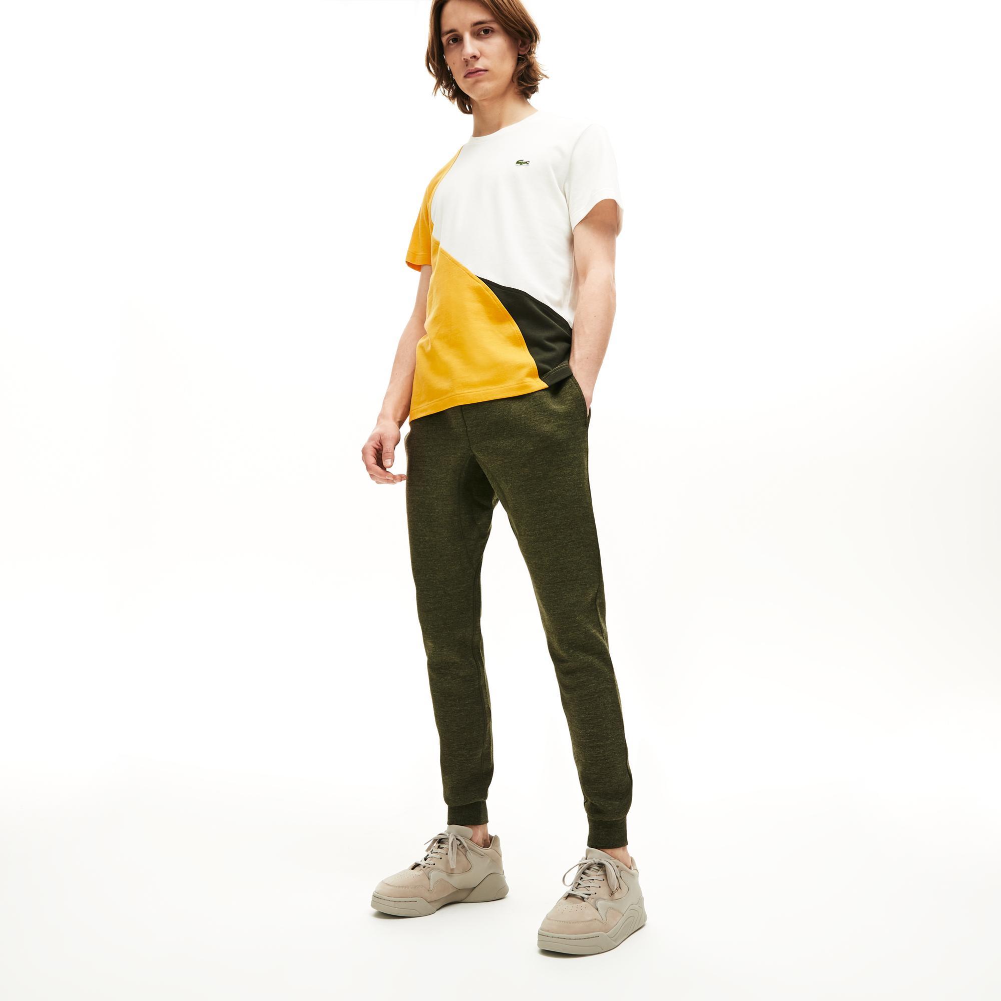 Lacoste Erkek Regular Fit Blok Desenli Sarı T-Shirt