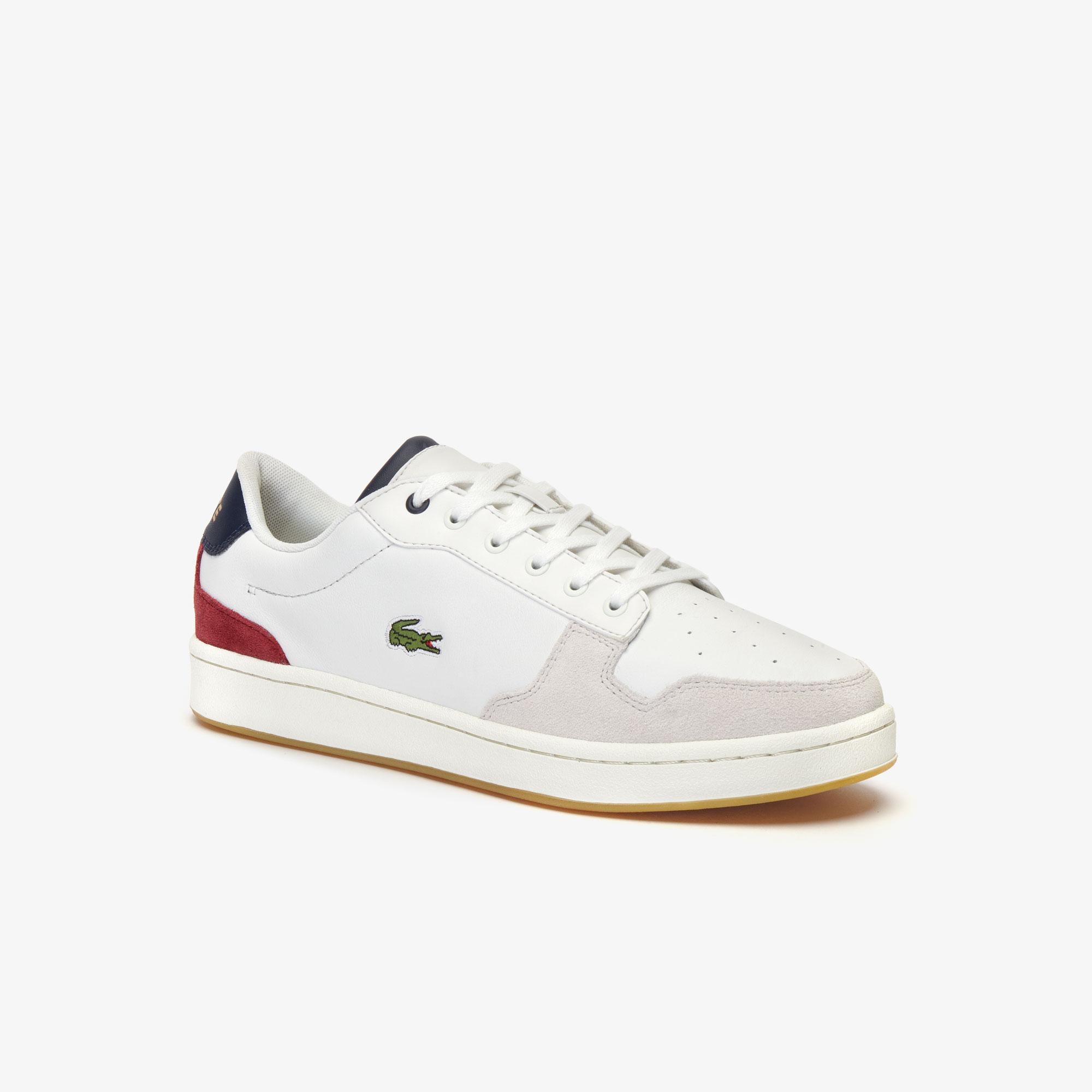 Lacoste Masters Cup 319 2 Sma Erkek Bej - Lacivert - Koyu Kırmızı Sneaker