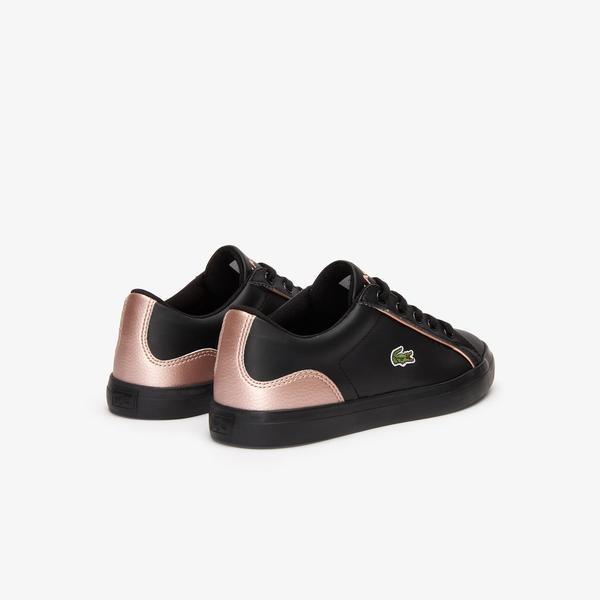 Lacoste Lerond 319 2 Cuc Çocuk Siyah - Pembe Casual Ayakkabı