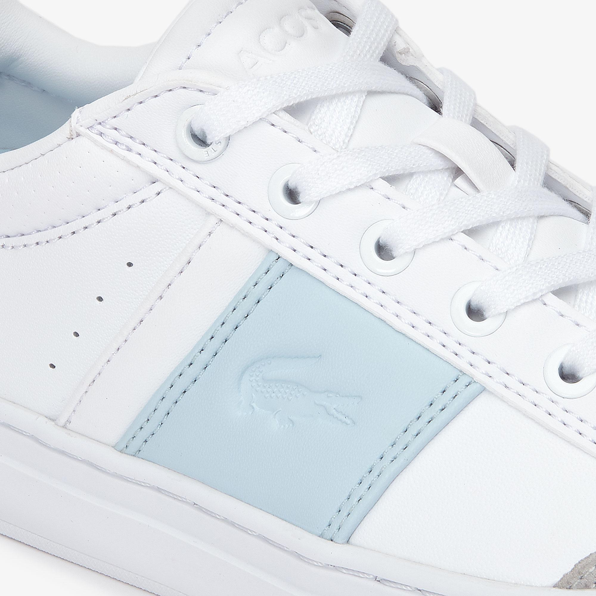 Lacoste Courtline 319 1 Us Cfa Kadın Beyaz - Açık Mavi Casual Ayakkabı
