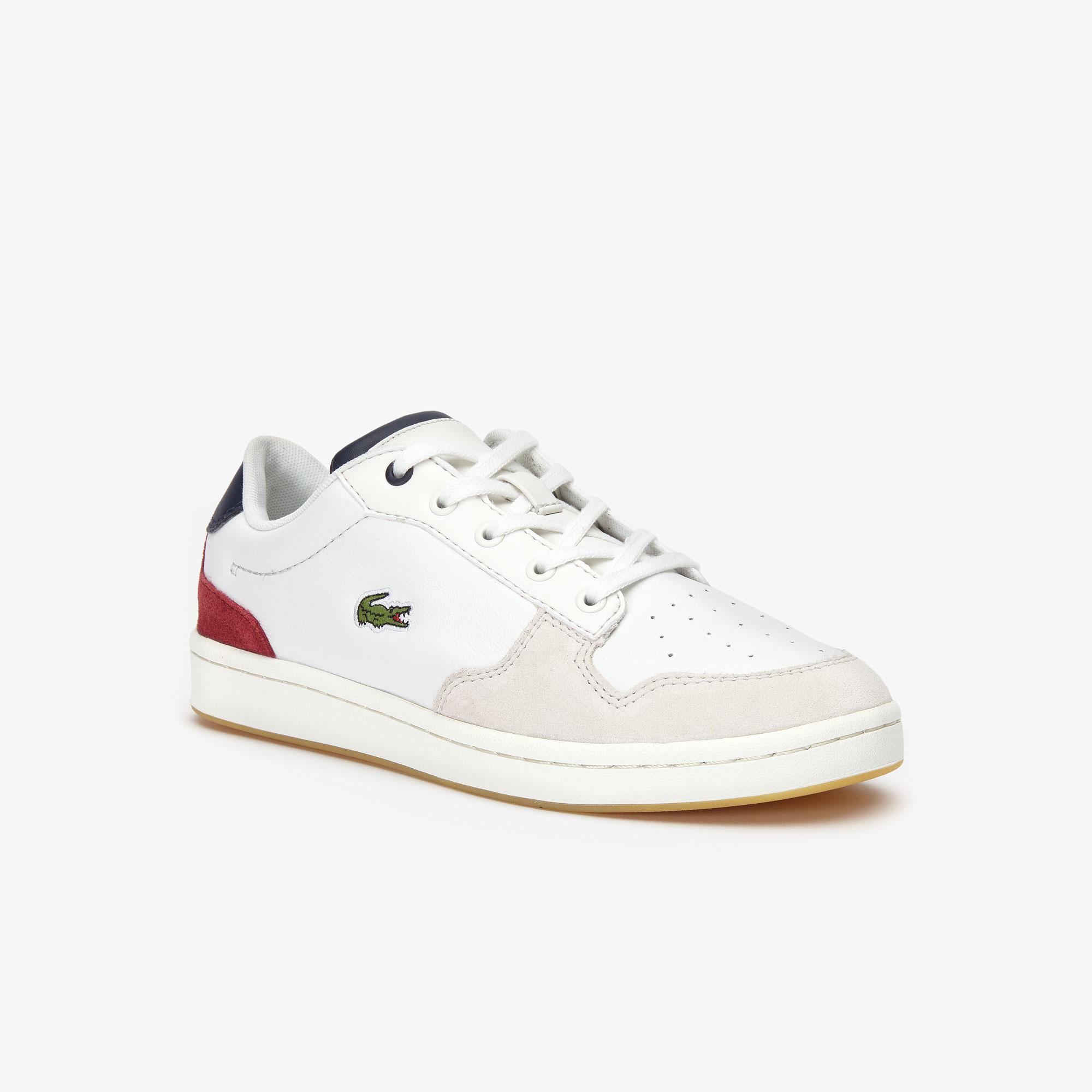 Lacoste Masters Cup 319 2 Sfa Kadın Bej - Lacivert - Koyu Kırmızı Sneaker