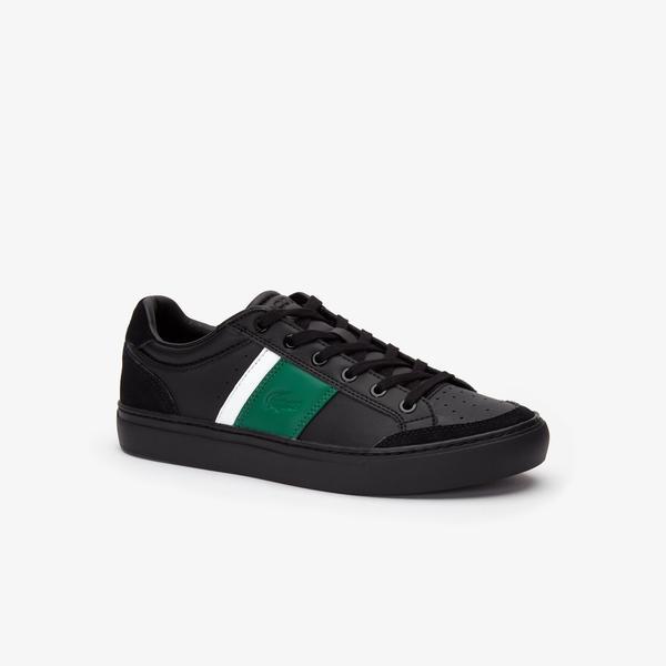 Lacoste Courtline 319 1 Us Cma Erkek Siyah - Yeşil Casual Ayakkabı
