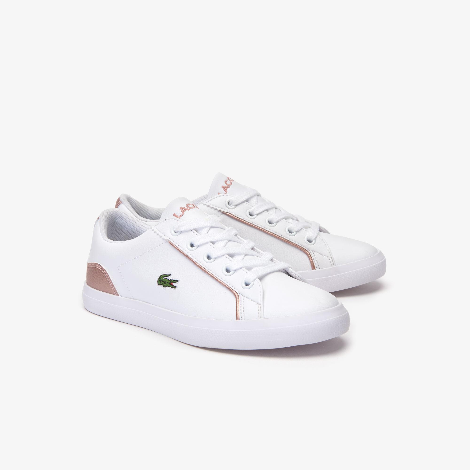 Lacoste Lerond 319 2 Cuc Çocuk Beyaz - Pembe Casual Ayakkabı