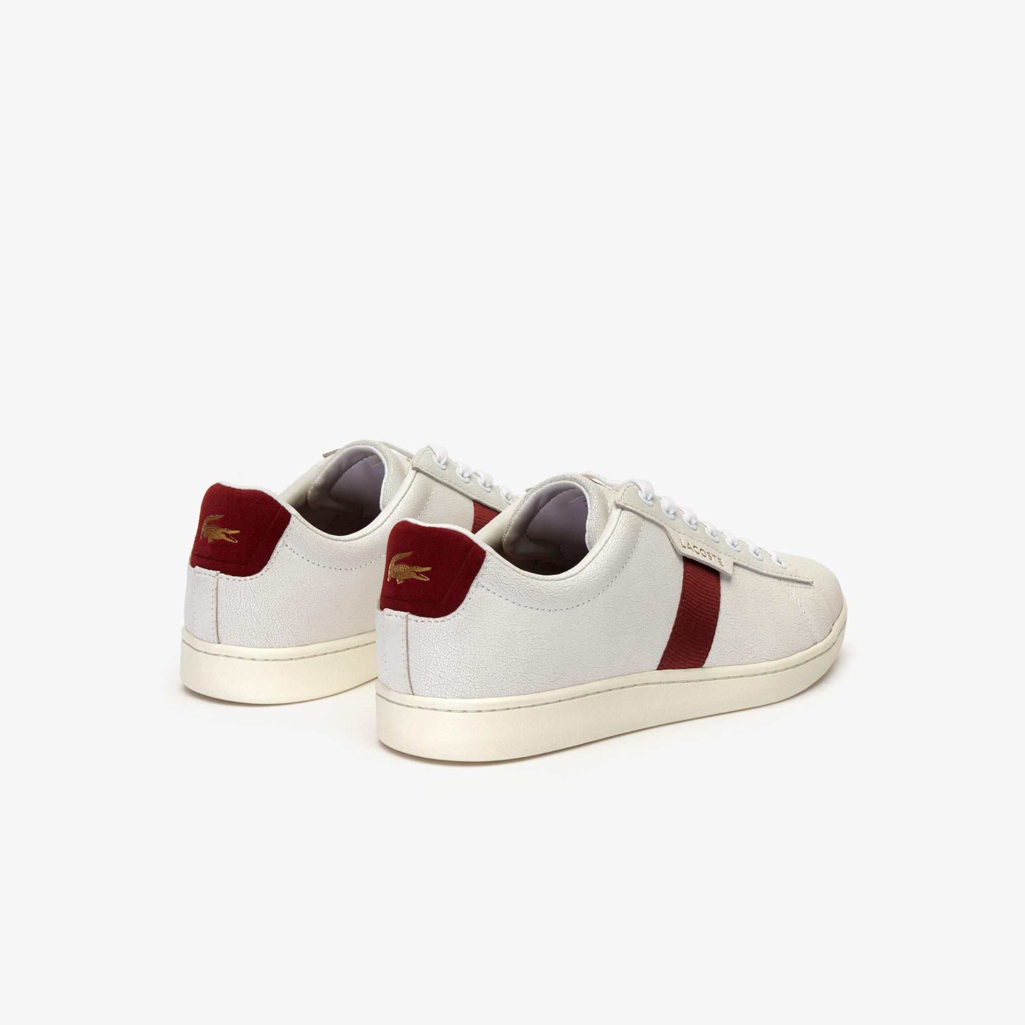 Lacoste Carnaby Evo 319 7 Sma Erkek Beyaz - Koyu Kırmızı Sneaker