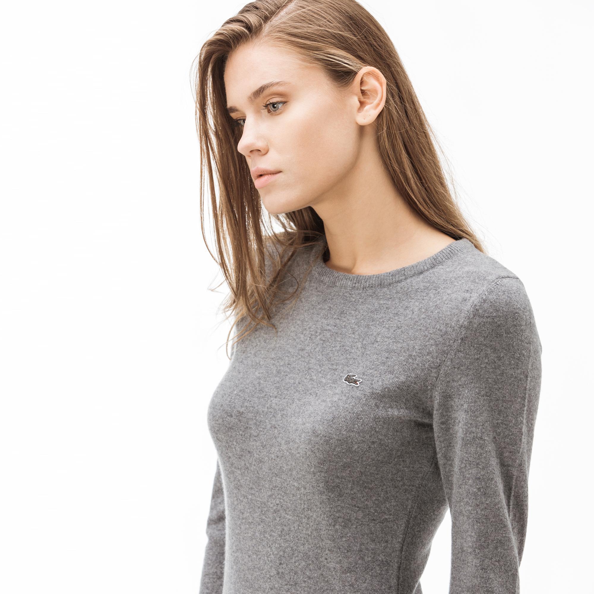 Lacoste Kadın Kaşmir Karışımlı Gri Elbise