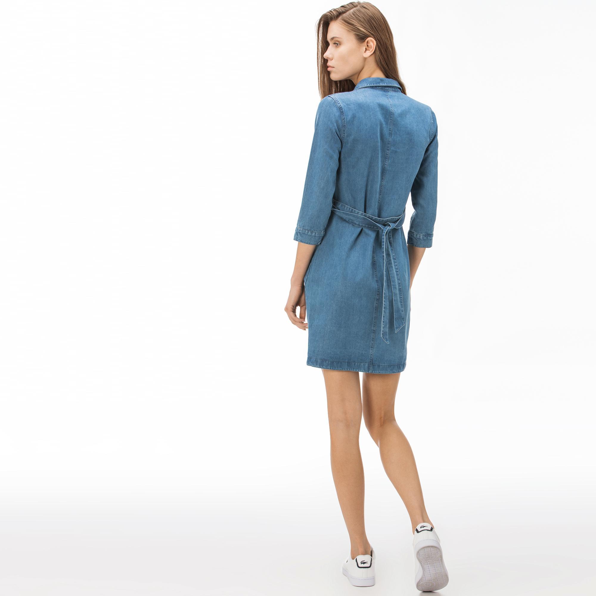 Lacoste Kadın Denim Elbise