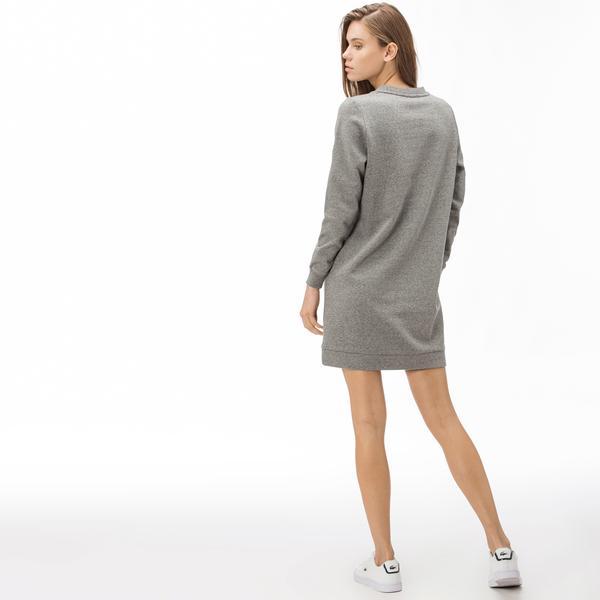 Lacoste Croco Magic Kadın Gri Elbise