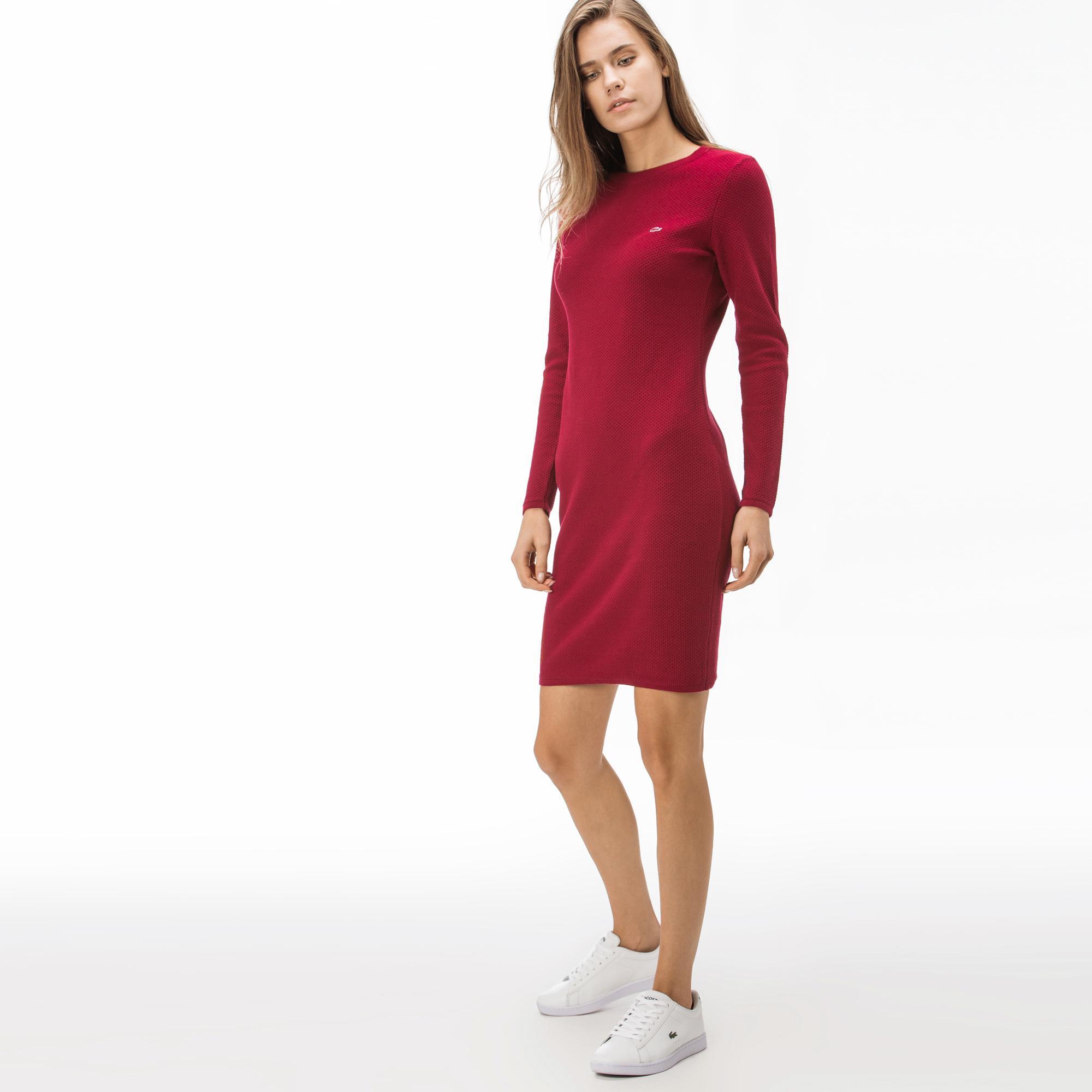 Lacoste Kadın Bordo Elbise
