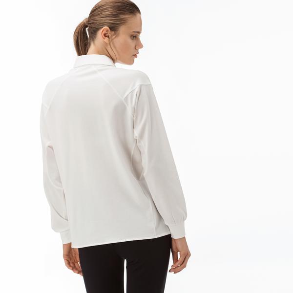Lacoste Motion Kadın Uzun Kollu Beyaz Gömlek