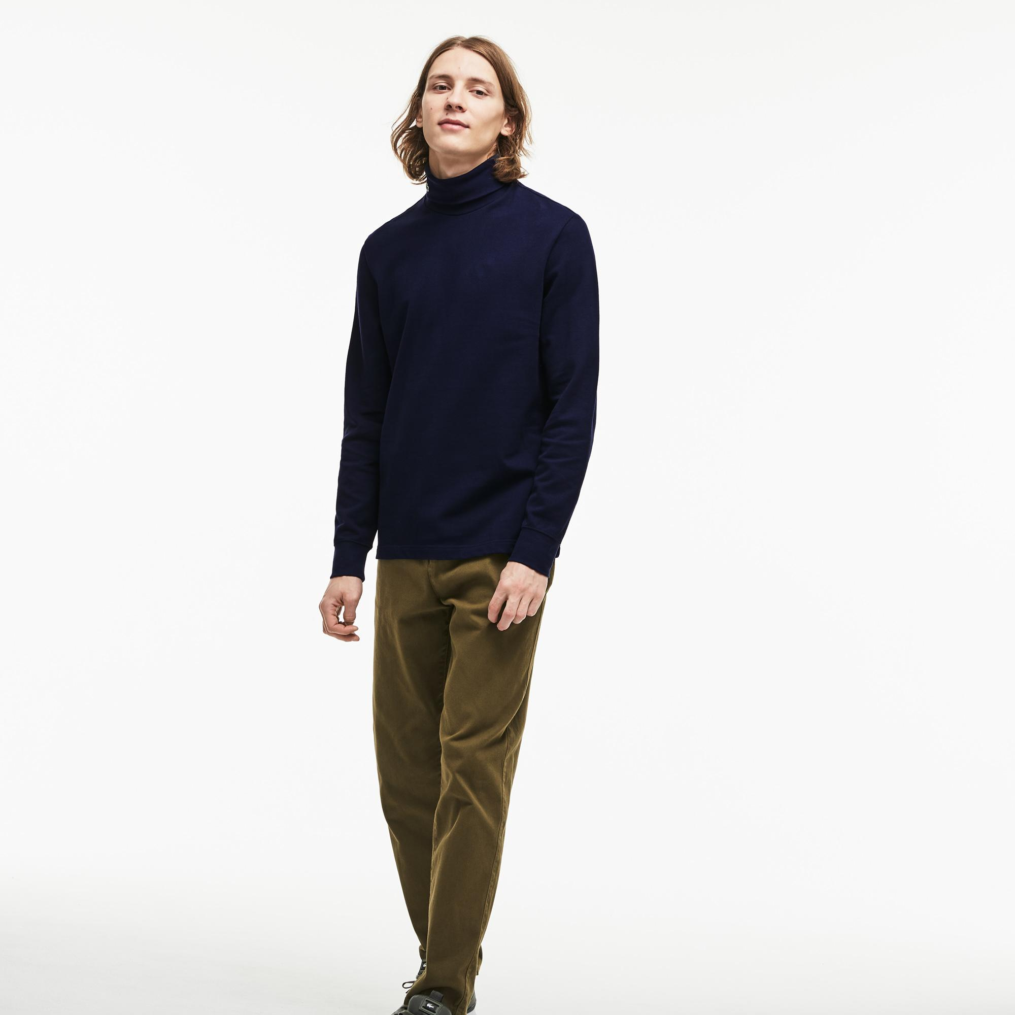 Lacoste Erkek Lacivert Uzun Kollu Boğazlı T-Shirt
