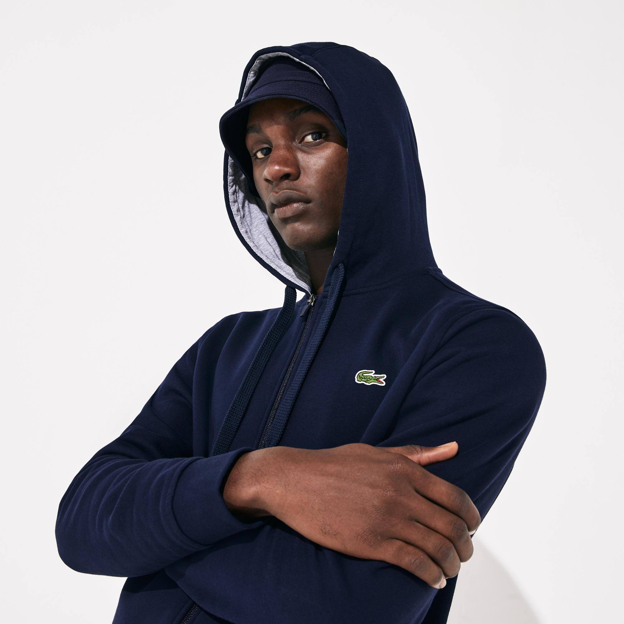 Lacoste Sport Erkek Kapüşonlu Lacivert Sweatshirt