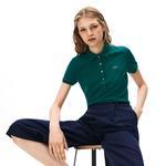 Lacoste Kadın Slim Fit Yeşil Polo